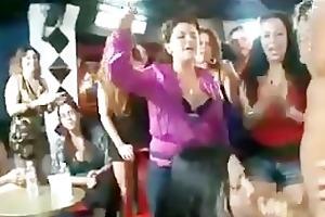 bitches engulfing in strip club