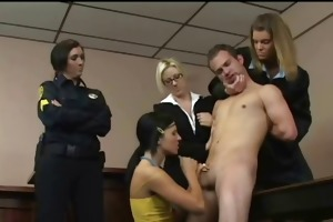 cfnm femdom judge punishes young man