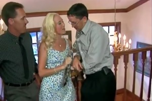 slutty golden-haired d like to fuck gets drilled