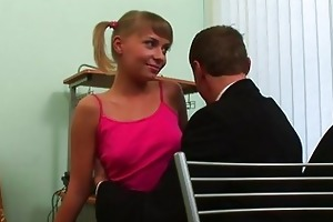 juvenile gal is being ravished by a mature dude