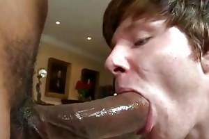 youthful gay stud riding a cock doggy style
