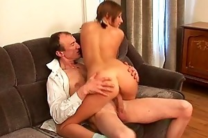 lustful old teacher is humping babes anal tunnel