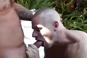 park wiley fat old fellow outdoor sex with pool