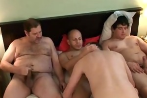 sissy guy gangbanged by hung dudes