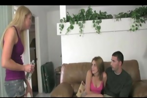 stepmom watches daughter jerk bf