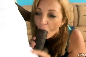 old lady swallows dick and gets fucked!