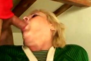sex crazed granny sucks and bonks