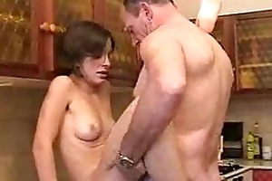 kitchen hardcore fucking fun with old farts and