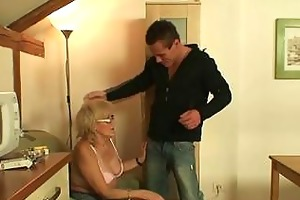 nasty granny dirty games with huge young boner