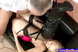 spruce blond assfucked by old guy