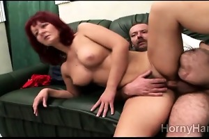 concupiscent redhead mother i acquires smashed by