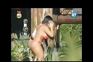 big brother bathing scene: natalia