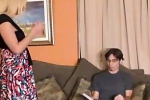 step-mom gives virgin lad tugjob