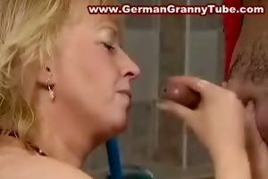 big titted blond old granny fucked hard in the