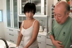 slutty asian milf makes out with an old part5