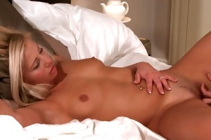 sexy youthful blond receives orgasmic while