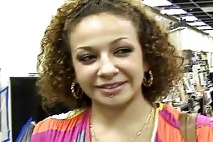 young curly lalin girl carmella bright picked up