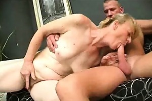chubby granny cock sucks and her acquires hirsute