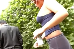 pickup busty redhead german for gangbang in nature