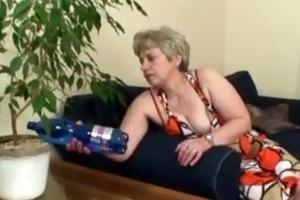 lonely granny takes big wang