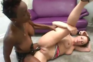 zebra lesbians - sexy lesbo ebony fuck with