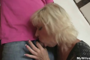 golden-haired old bag seduces her son-in-law