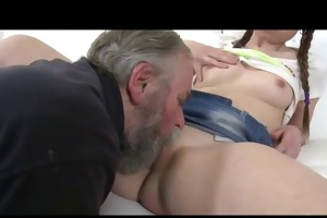 double pleasure with old and young for legal age