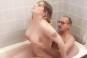 mom gets drilled hard in bathroom part4