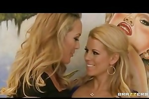 blonde lesbian couple brandi love & nicole