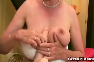 granny and her new sextoy