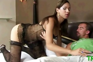 young ladyboy licked and screwed