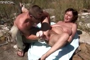 horny mother i gets her hirsute muf drilled part5