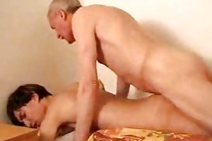 slender young twink gets drilled by his gay daddy