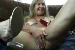 sexy hot older vanylla gives a foot job
