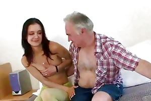 old guy seducing youthful girl