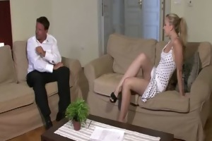 young blond cheats with her bf&#039 s dad